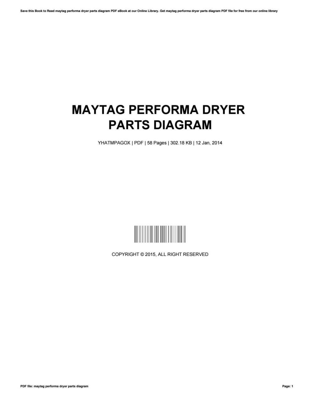medium resolution of maytag performa dryer parts diagram by bradleygannaway1966