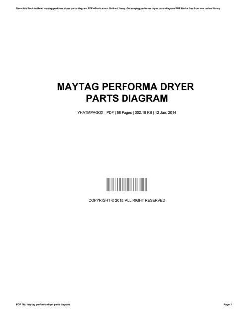 small resolution of maytag performa dryer parts diagram by bradleygannaway1966