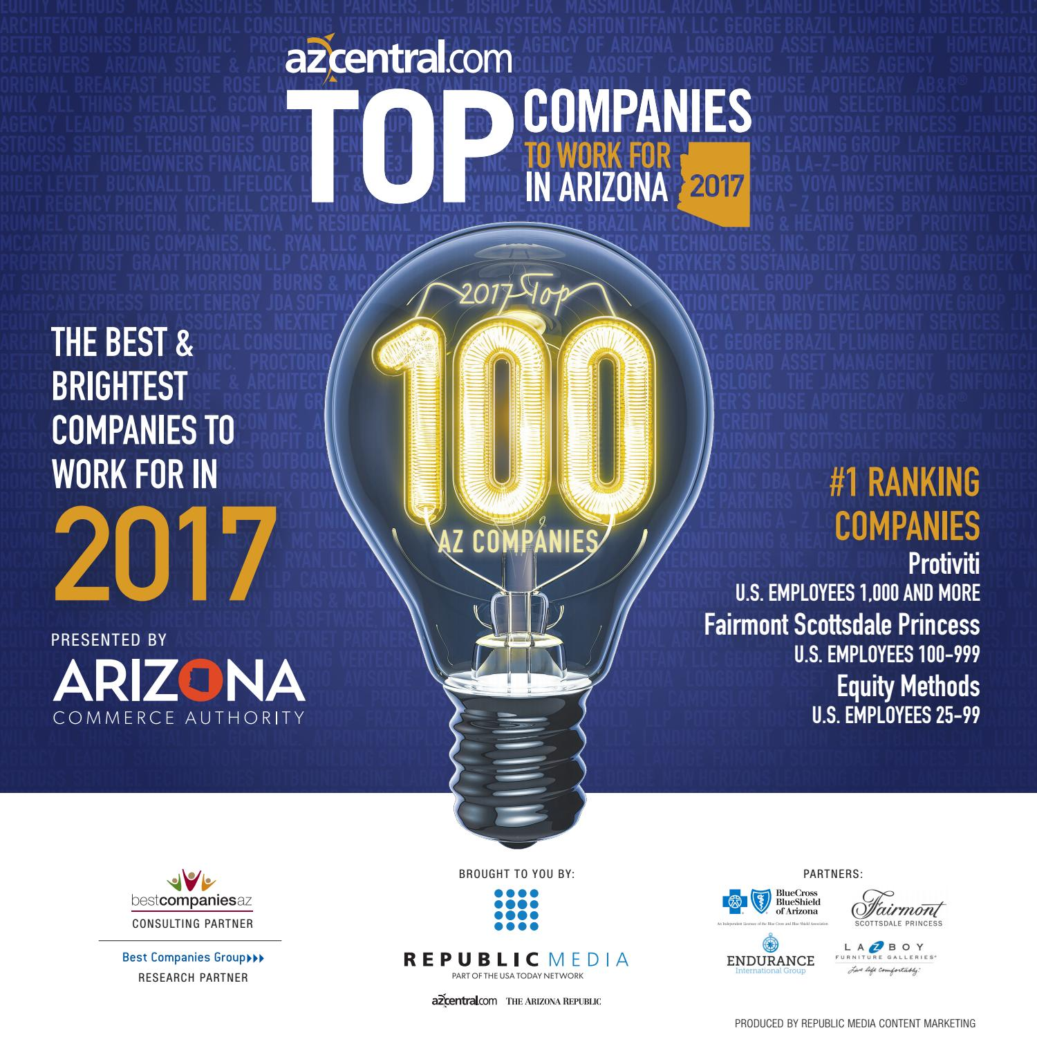 Top Companies To Work For In Arizona 2017 By Republic