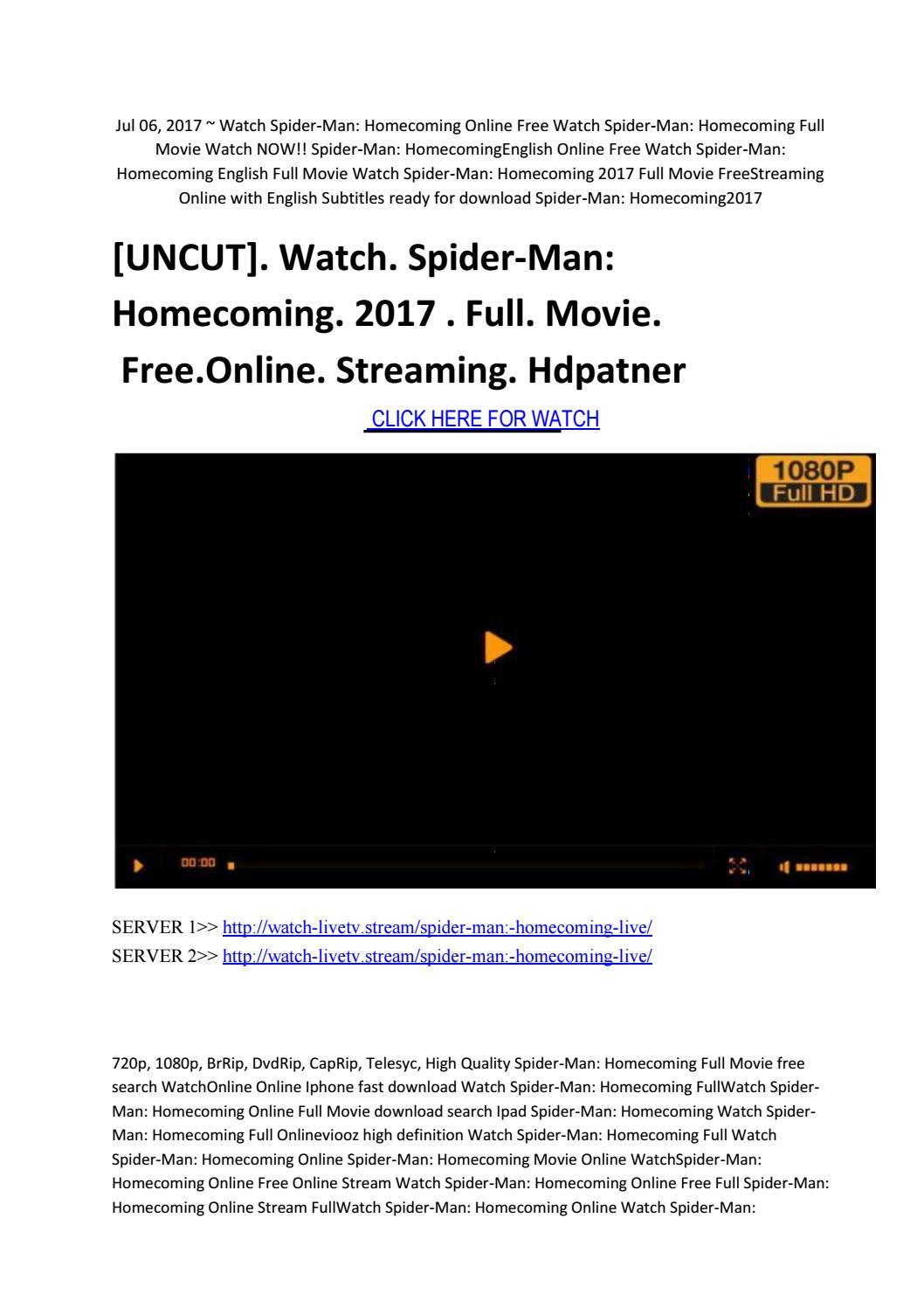 Spider Man Homecoming Vf Streaming : spider, homecoming, streaming, Watch, Spider, Homecoming, Movie, Online, Streaming, Hdpatner, Gentlemanfks, Issuu