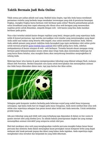 Taktik Bermain Sepak Bola : taktik, bermain, sepak, Taktik, Bermain, Online..., Cepatinfoarea, Issuu