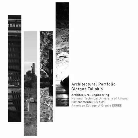 Architectural Portfolio Giorgos Taliakis By Giorgos
