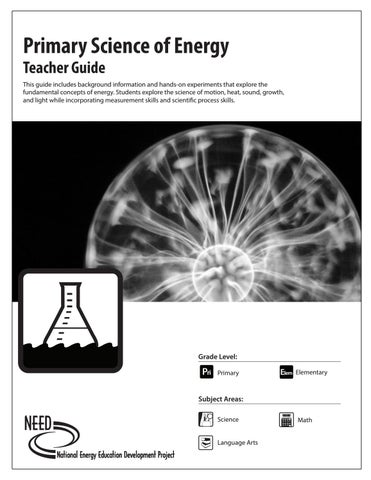 Primary Science of Energy Teacher Guide by NEED Project