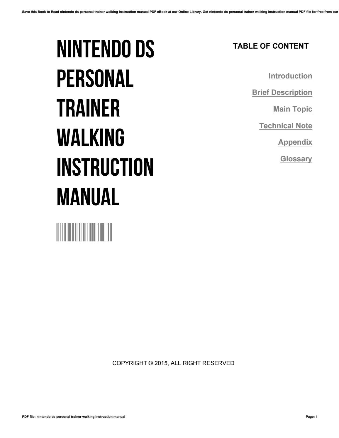 Nintendo Ds Operations Manual Pdf / Nintendo 2ds Manuals
