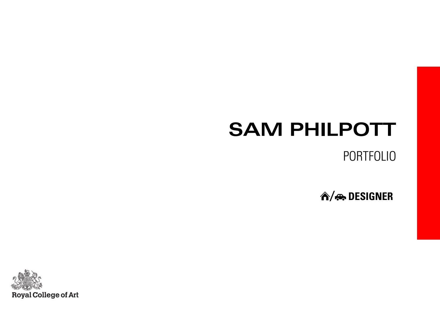 Sam Philpott Design Portfolio June 2017 by Sam Philpott