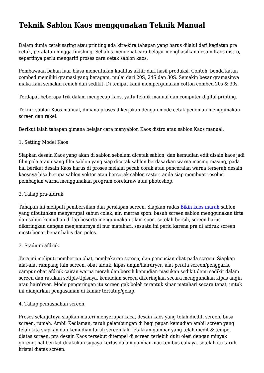Cara Pecah Warna Raster Di Photoshop : pecah, warna, raster, photoshop, Teknik, Sablon, Menggunakan, Manual..., Pinbisniscorp, Issuu
