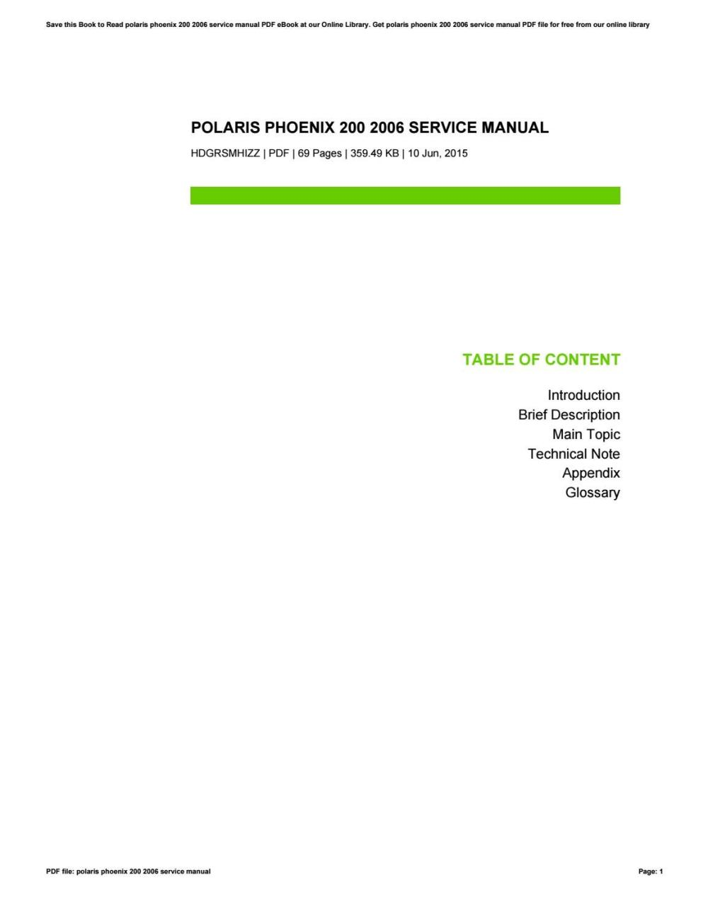 medium resolution of polari sawtooth service manual