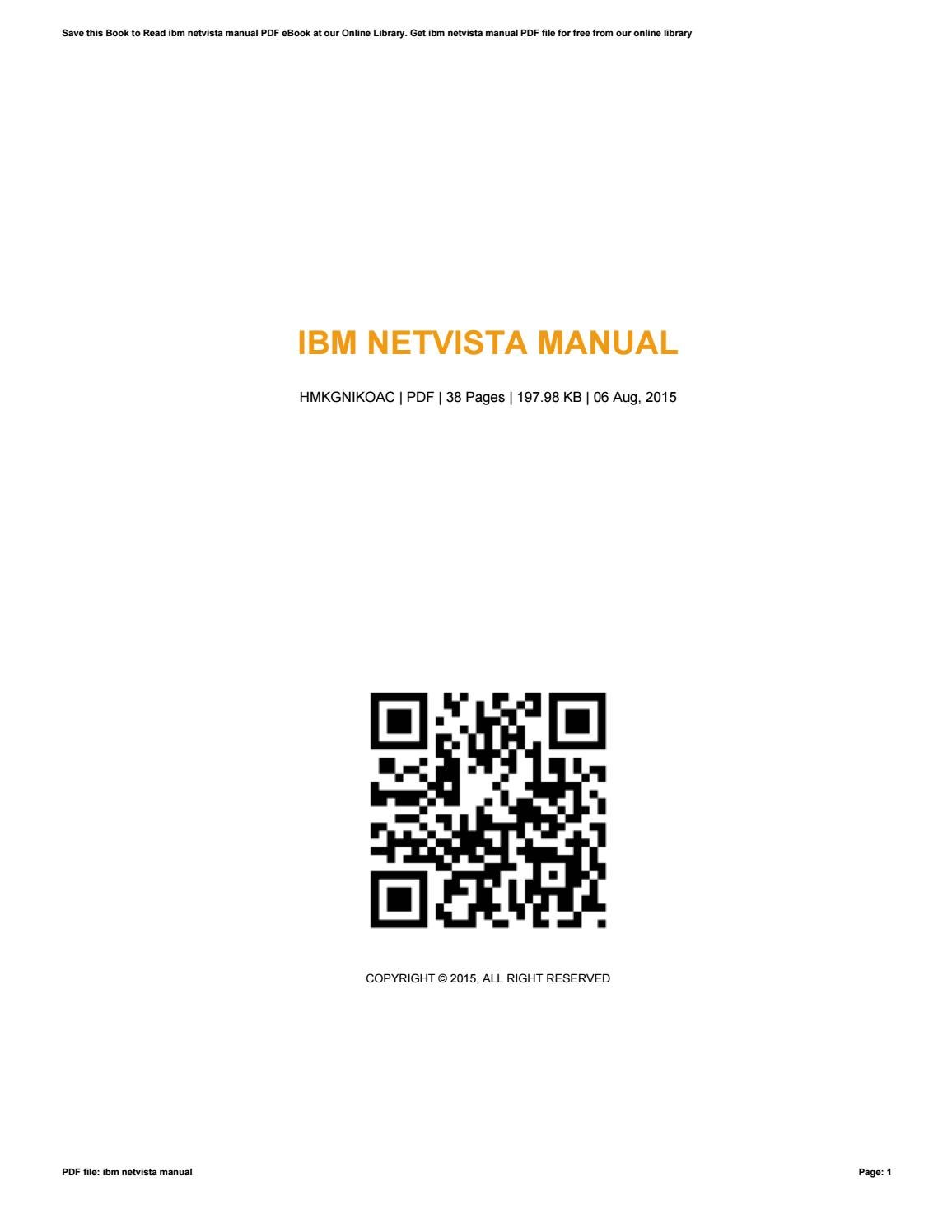 IBM NETVISTA MANUAL DRIVER DOWNLOAD