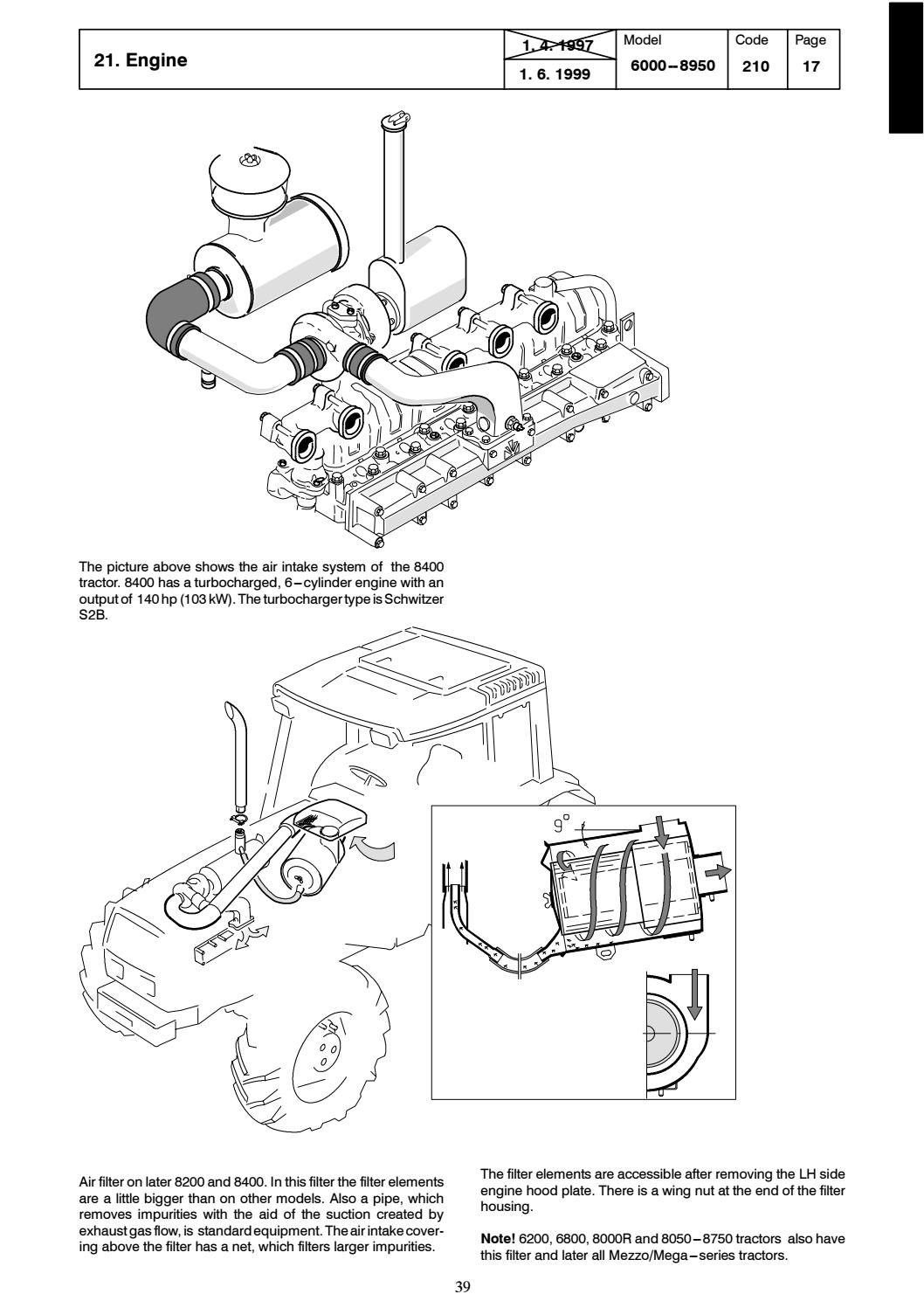Valtra valmet 8000 tractor service repair manual by