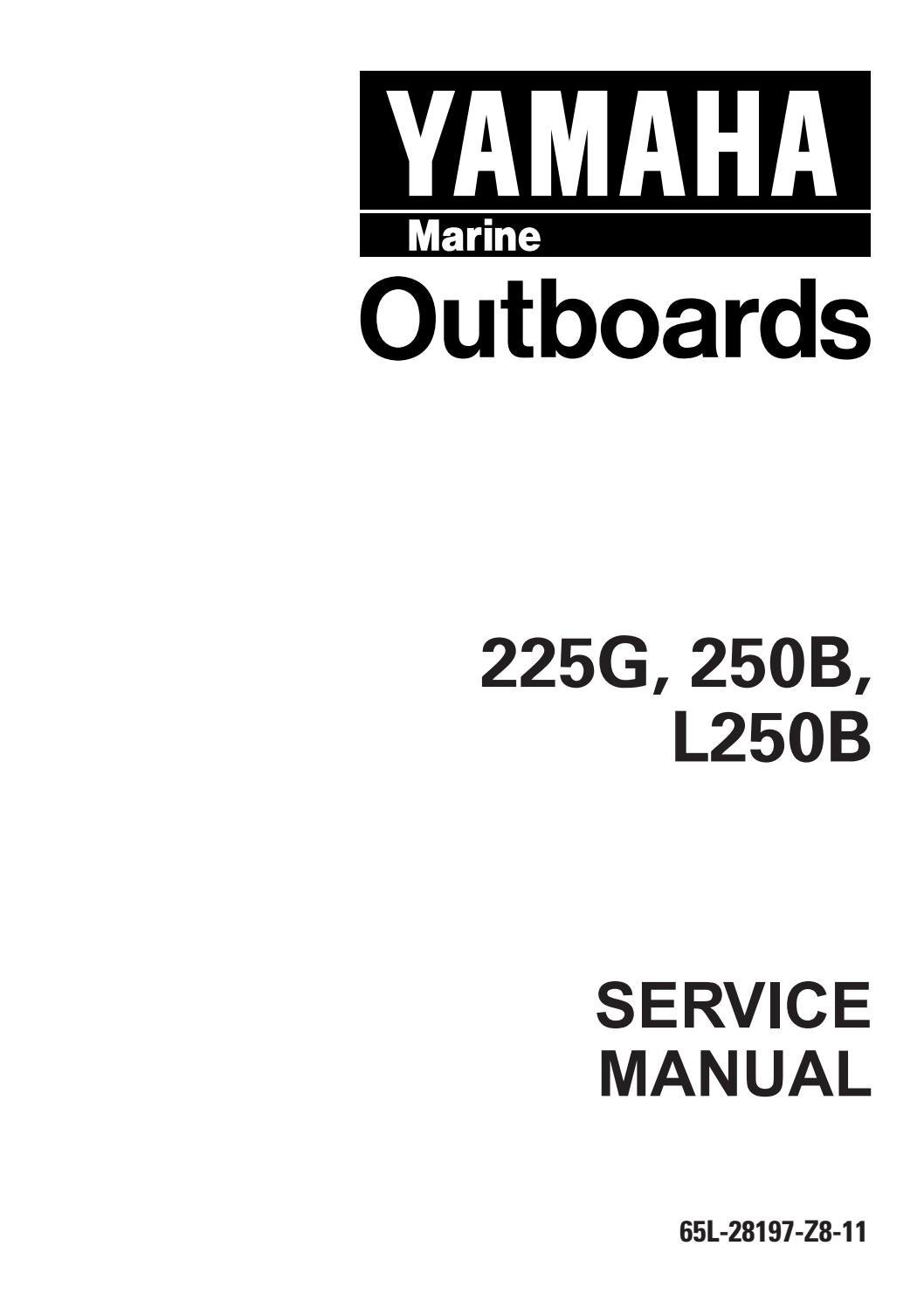 Yamaha outboard 225feto, s225tr service repair manual u