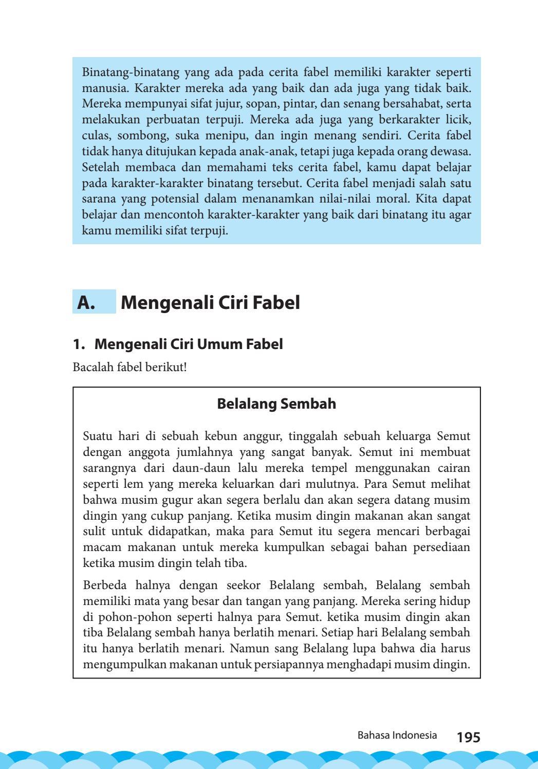 Mengenali Ciri Umum dan Jenis Fabel | Mikirbae.com