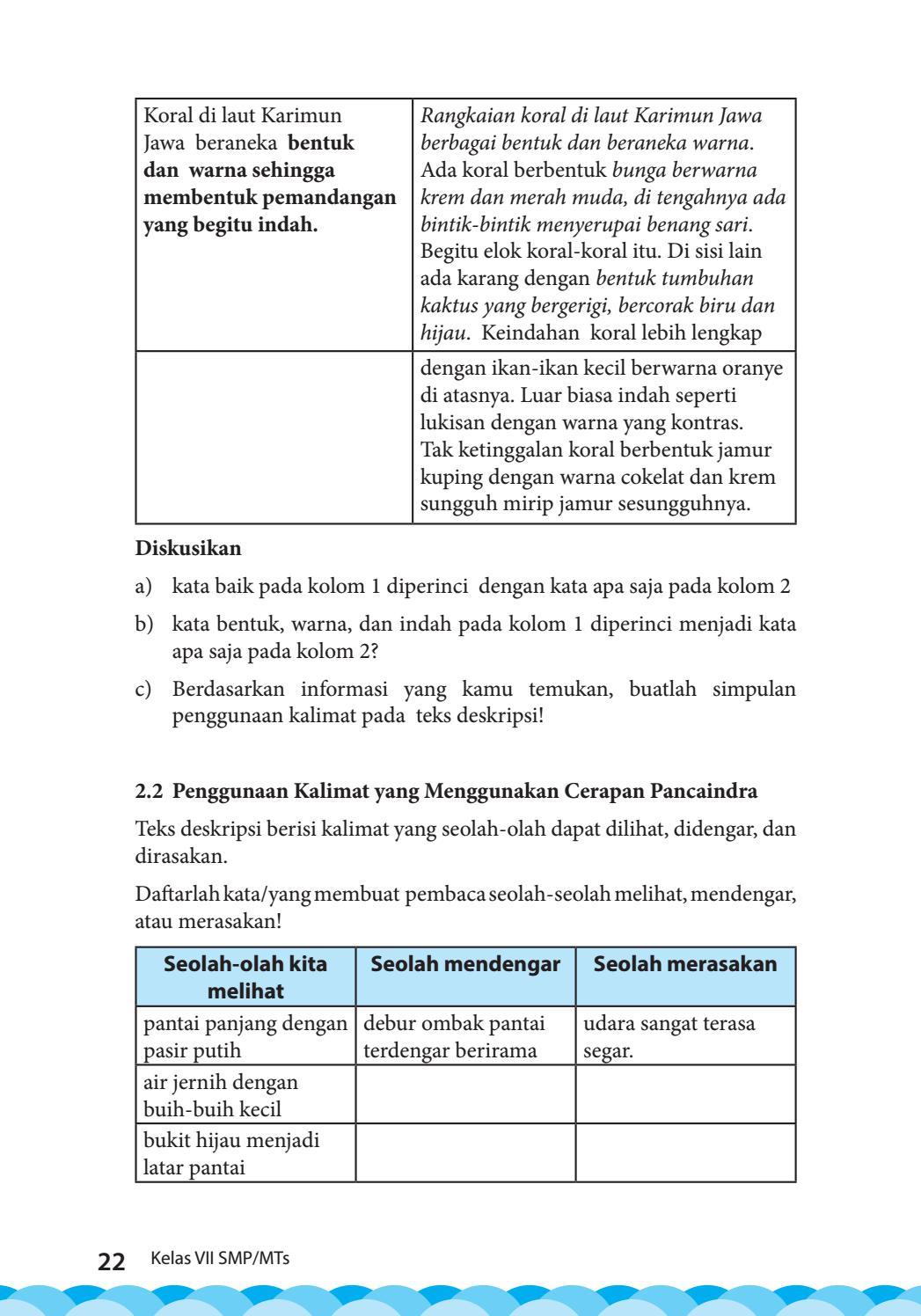 Kata Baik Pada Kolom 1 Diperinci Dengan Kata Apa Saja Pada Kolom 2 : kolom, diperinci, dengan, Kelas, Bahasa, Indonesia, Siswa, Issuu