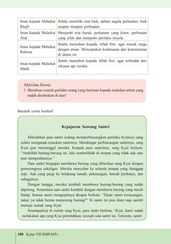 PDF Perilaku Beriman Kepada Malaikat - Universitas Semarang