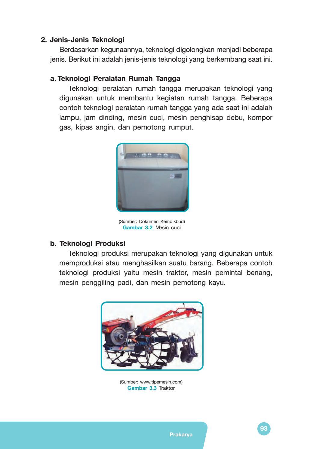 Jenis-jenis Teknologi : jenis-jenis, teknologi, Kelas, Prakarya, Siswa, Issuu