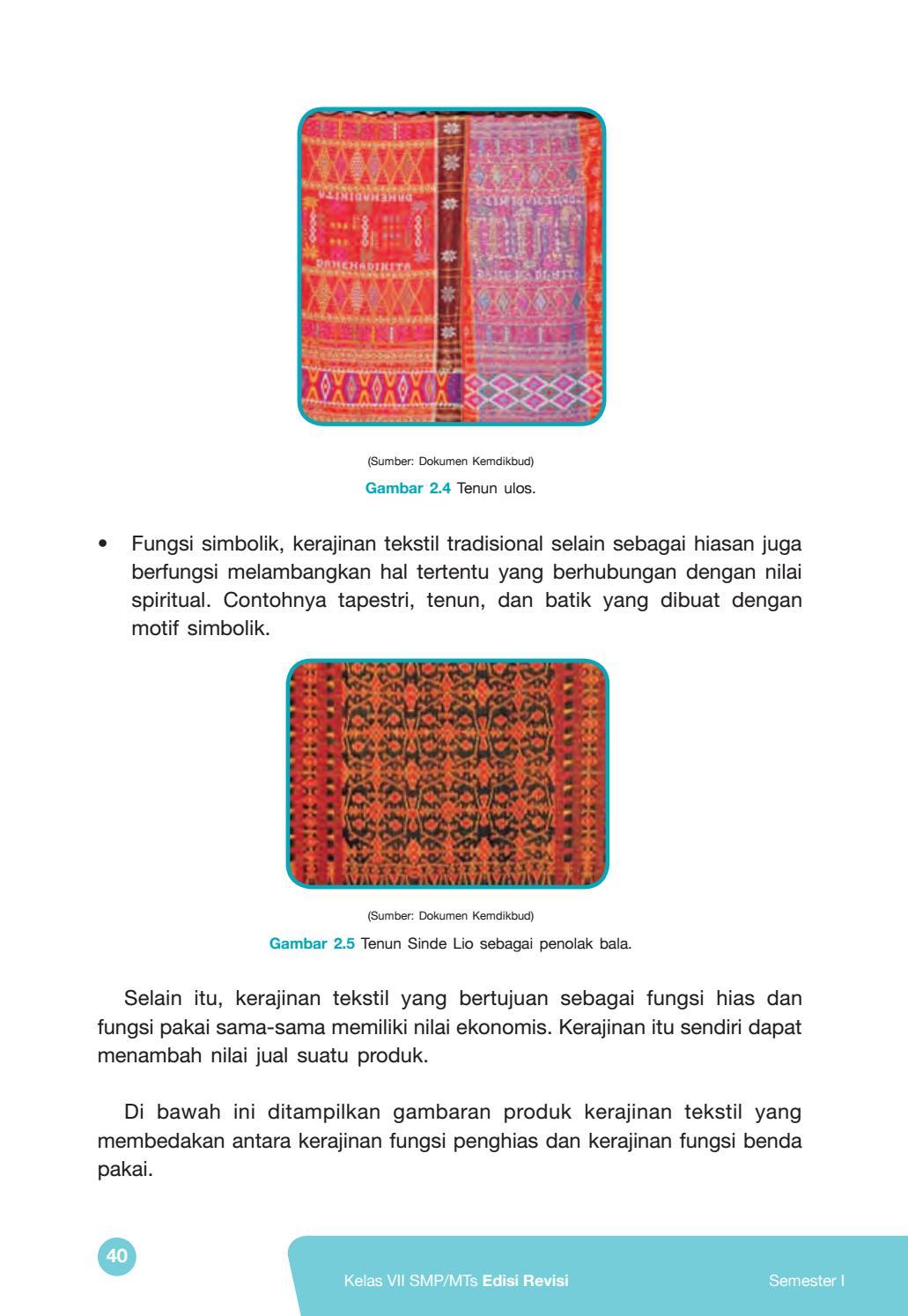 Fungsi Kerajinan Tekstil Tradisional : fungsi, kerajinan, tekstil, tradisional, Kelas, Prakarya, Siswa, Issuu