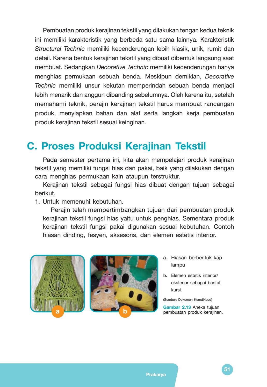 Proses Pembuatan Kerajinan Tekstil : proses, pembuatan, kerajinan, tekstil, Kelas, Prakarya, Siswa, Issuu