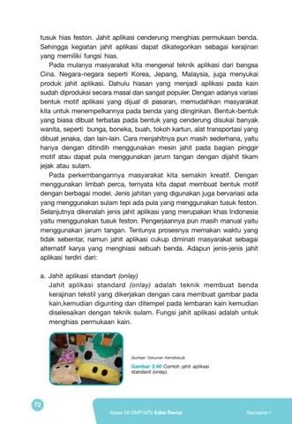 Jahit Aplikasi Yang Merupakan Khas Indonesia Menggunakan : jahit, aplikasi, merupakan, indonesia, menggunakan, Kelas, Prakarya, Siswa, Issuu