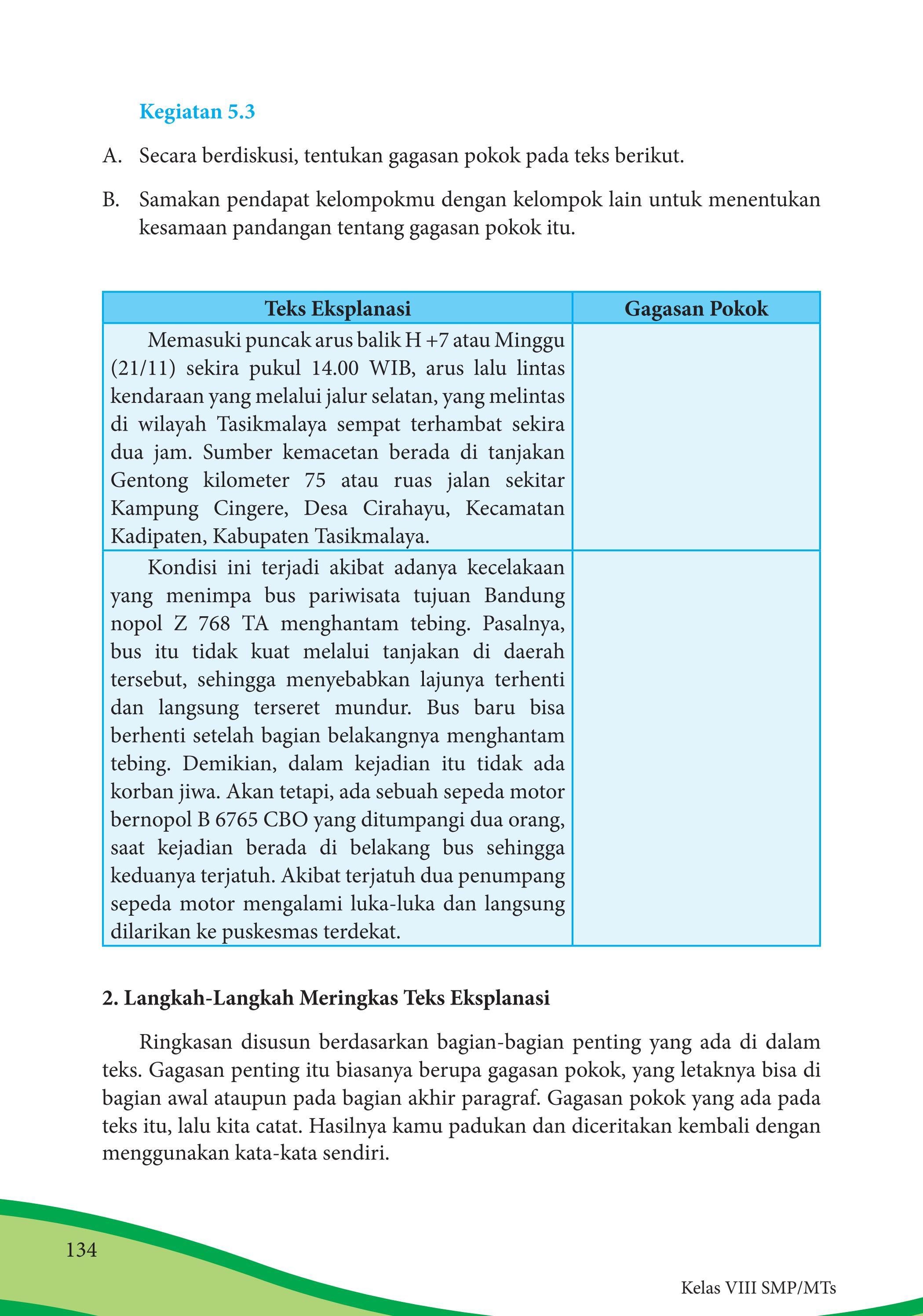 Kegiatan 5.5 Bahasa Indonesia Kelas 8 : kegiatan, bahasa, indonesia, kelas, Jawaban, Bahasa, Indonesia, Kelas, Halaman, Bagian, Background, Kurikulum, SEKOLAH