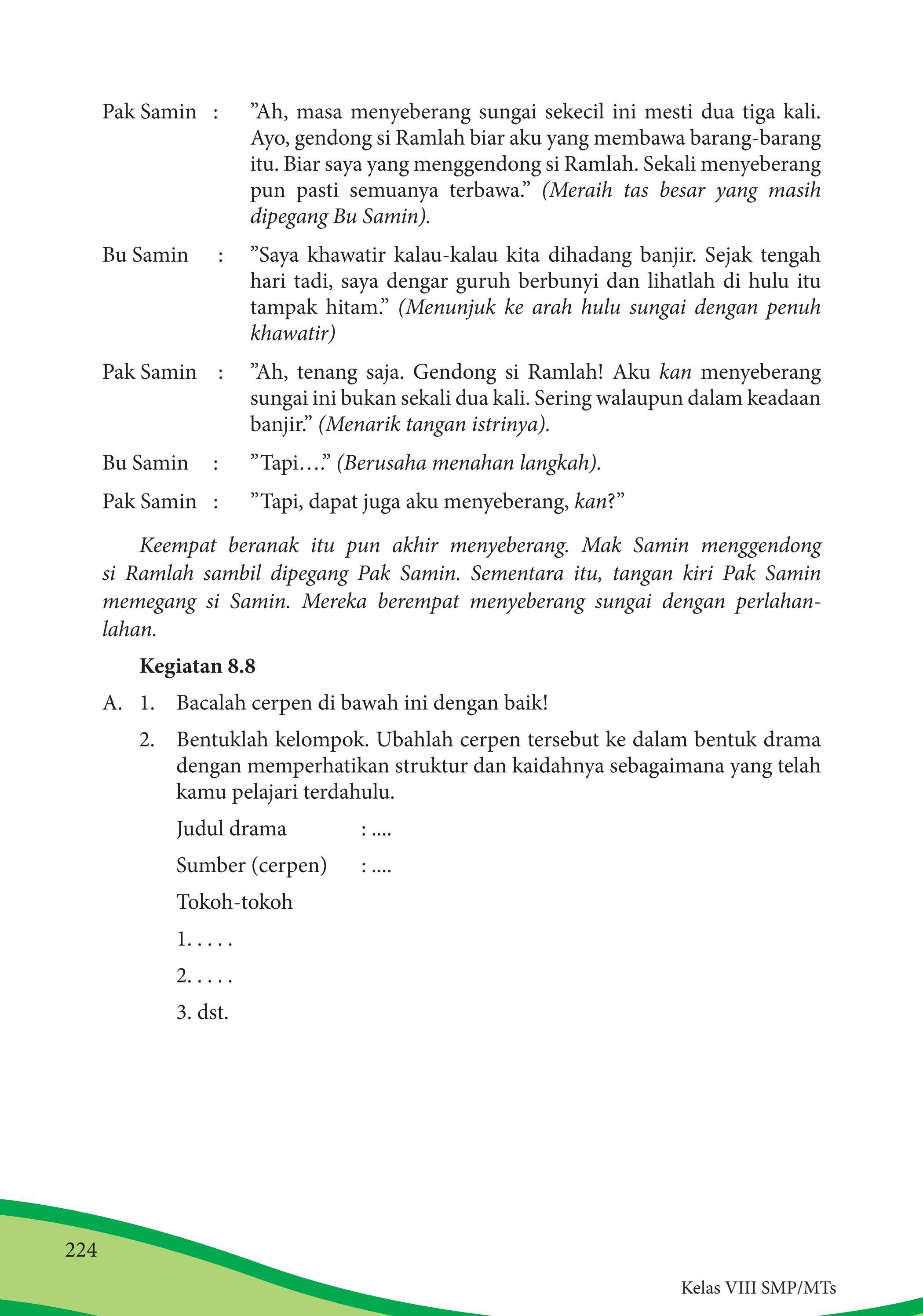 Kegiatan 8.8 Bahasa Indonesia Kelas 8 Halaman 224 : kegiatan, bahasa, indonesia, kelas, halaman, Kelas, Bahasa, Indonesia, Siswa, Issuu