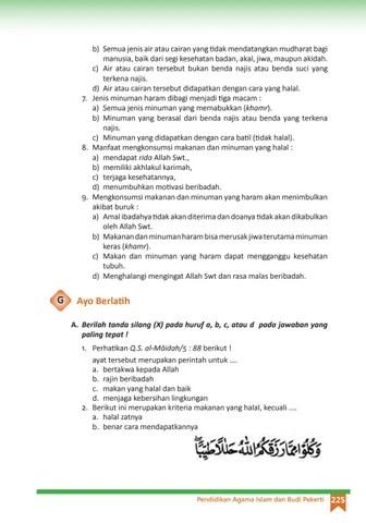 Kriteria Makanan Dan Minuman Halal : kriteria, makanan, minuman, halal, Kelas, Pendidikan, Agama, Islam, Pekerti, Siswa, Issuu