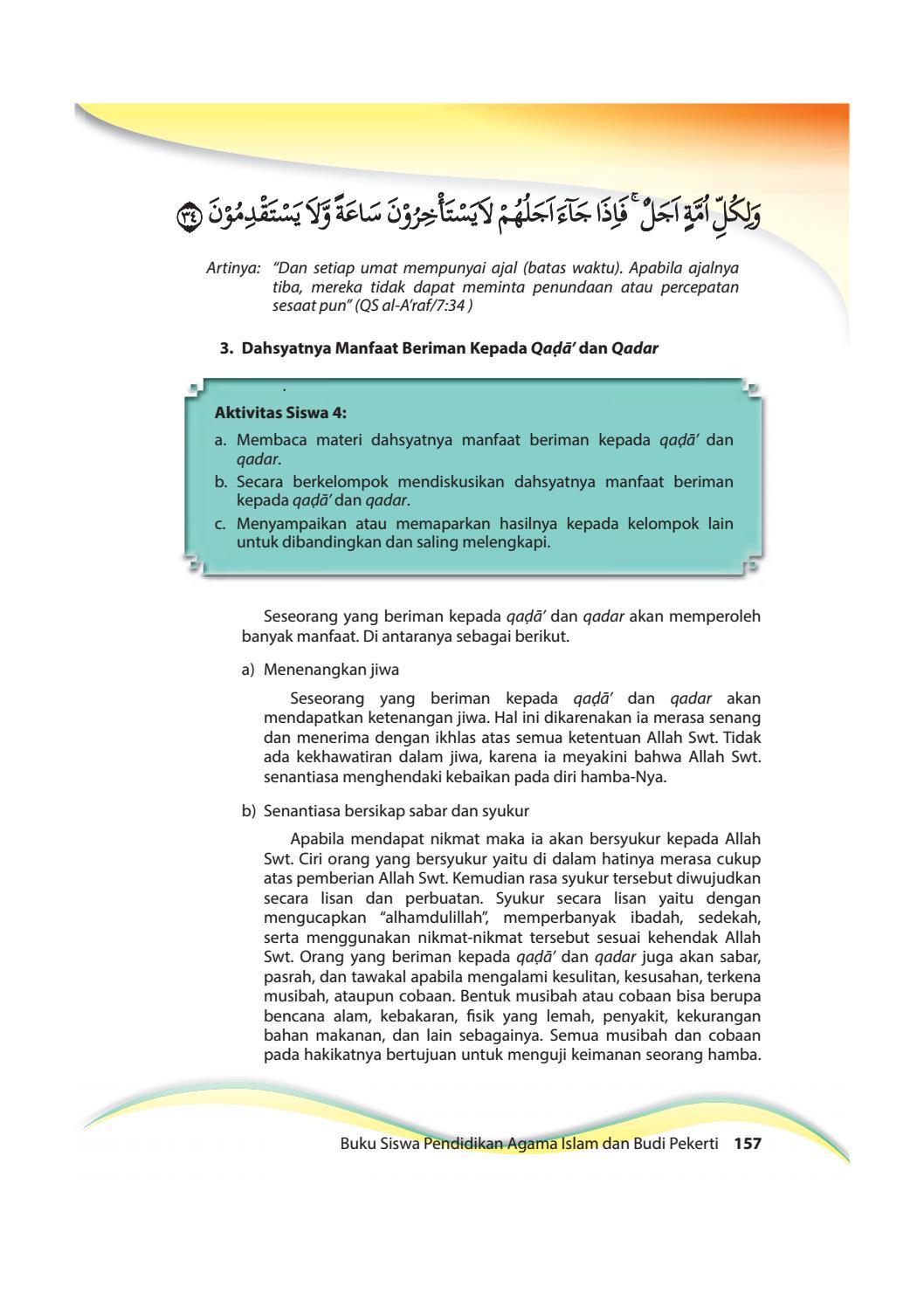 Manfaat Beriman Kepada Allah : manfaat, beriman, kepada, allah, Kelas, Pendidikan, Agama, Islam, Pekerti, Siswa, Issuu