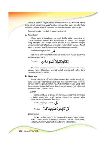 Contoh Waqaf Lazim Dalam Al Quran : contoh, waqaf, lazim, dalam, quran, Kelas, Pendidikan, Agama, Islam, Pekerti, Siswa, Issuu