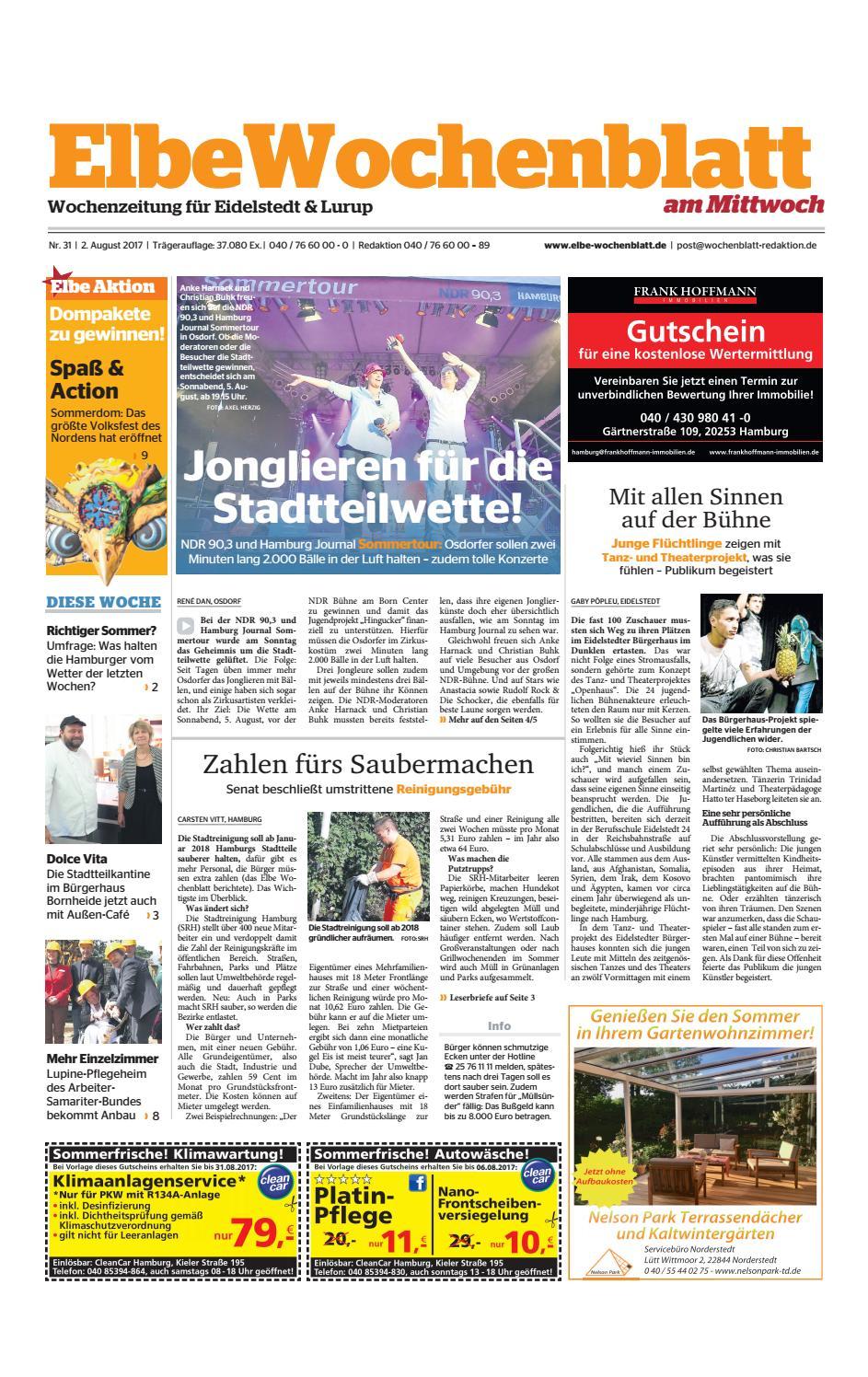 Eidelstedt Kw31-2017 By Elbe Wochenblatt Verlagsgesellschaft Mbh