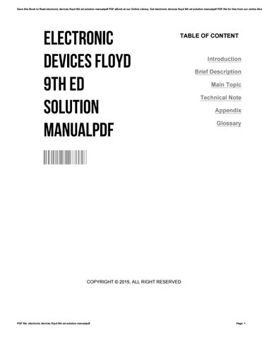 Floyd electronic devices solution manual