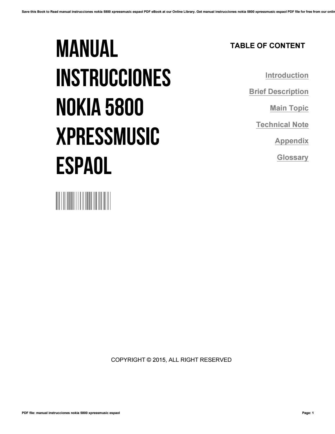 Manual instrucciones nokia 5800 xpressmusic espaol by