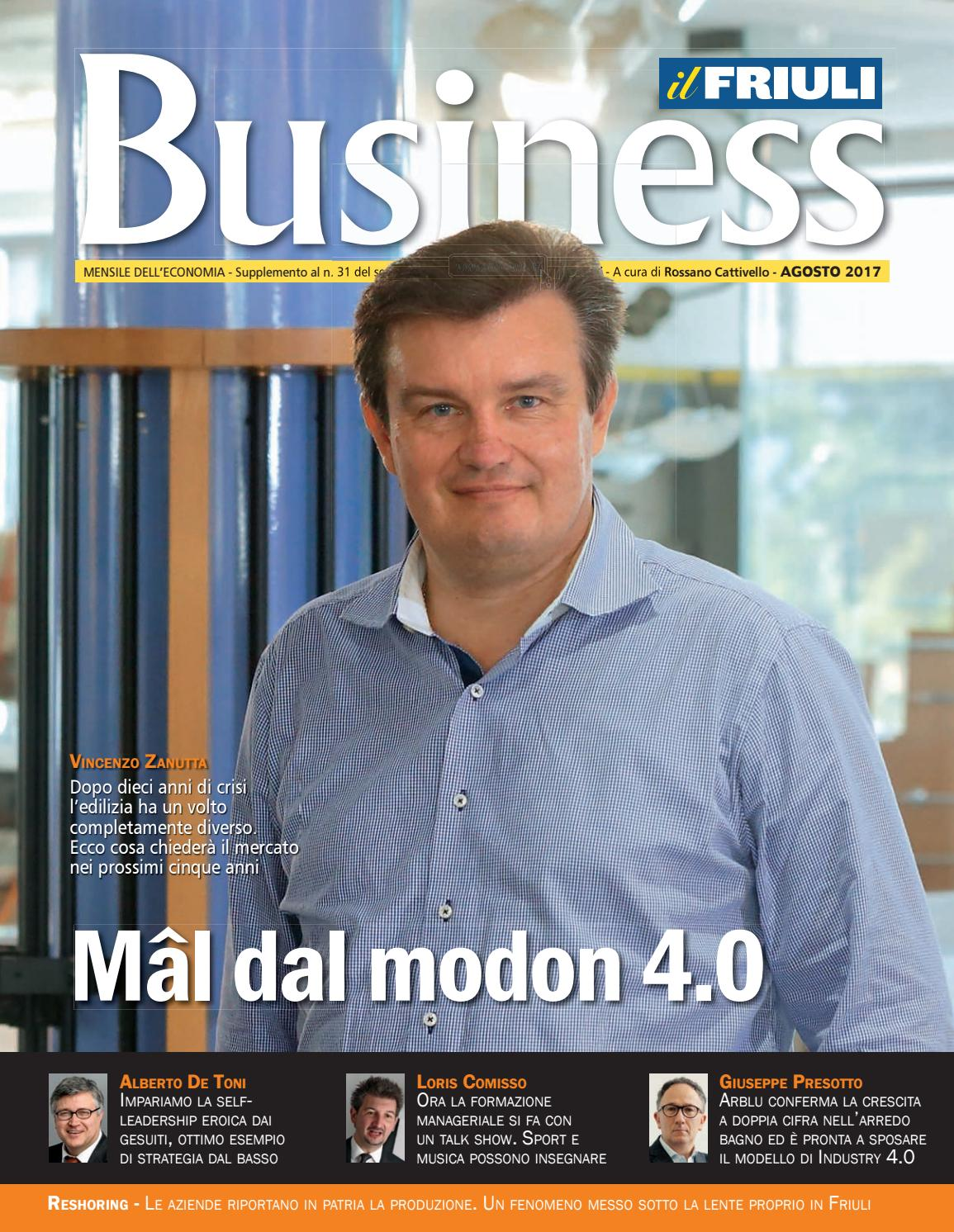 Friuli Business FVG  Agosto 2017 by Zanutta spa  Issuu