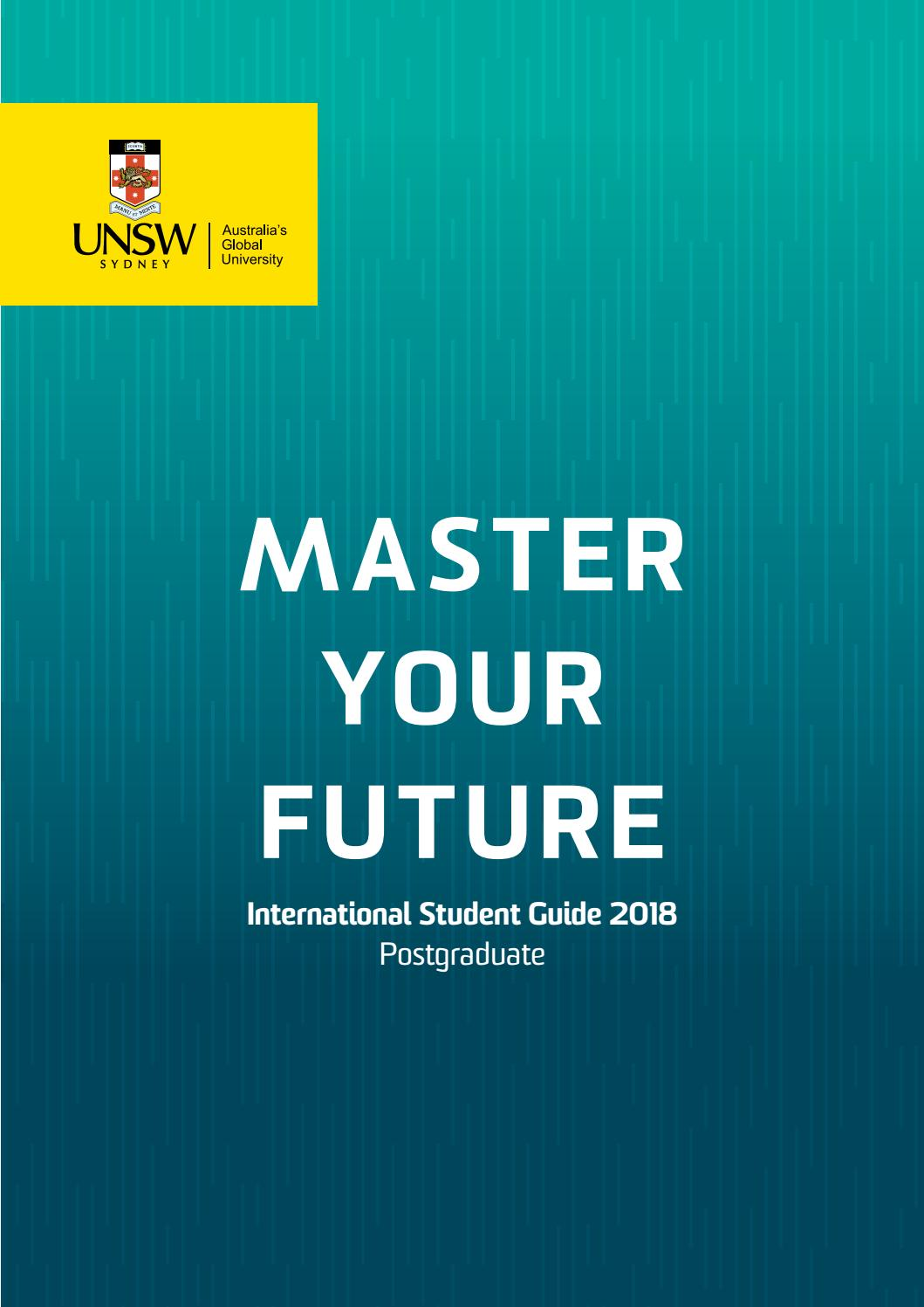 Unsw Cover Letter Unsw International Student Guide 2018 Postgraduate By Unsw