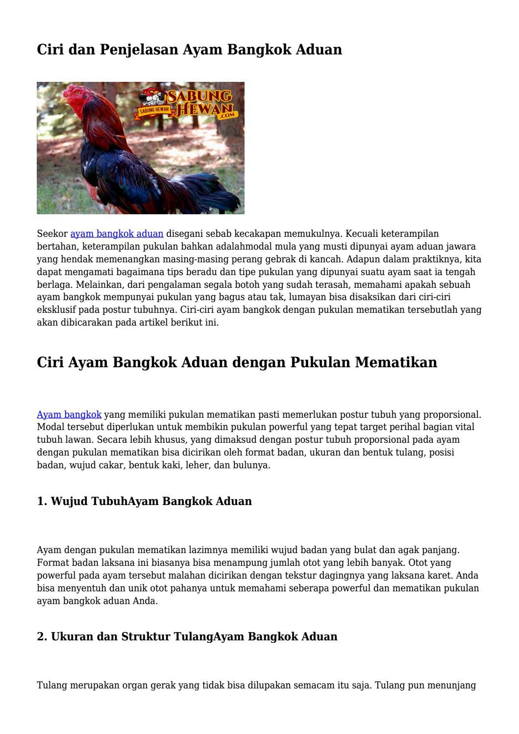 Cara Pukulan Mematikan : pukulan, mematikan, Penjelasan, Bangkok, Aduan..., Wickedartist3635, Issuu