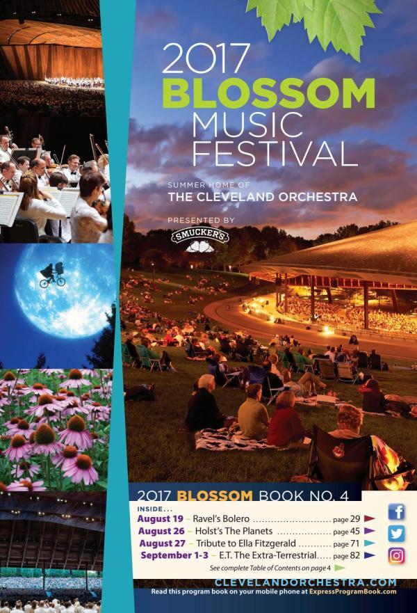 2017 Blossom Music Festival August 19 26 27 September 1
