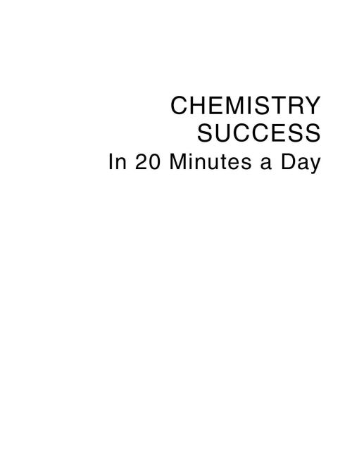 small resolution of scribd download com chemistry success in 20 minutes a day