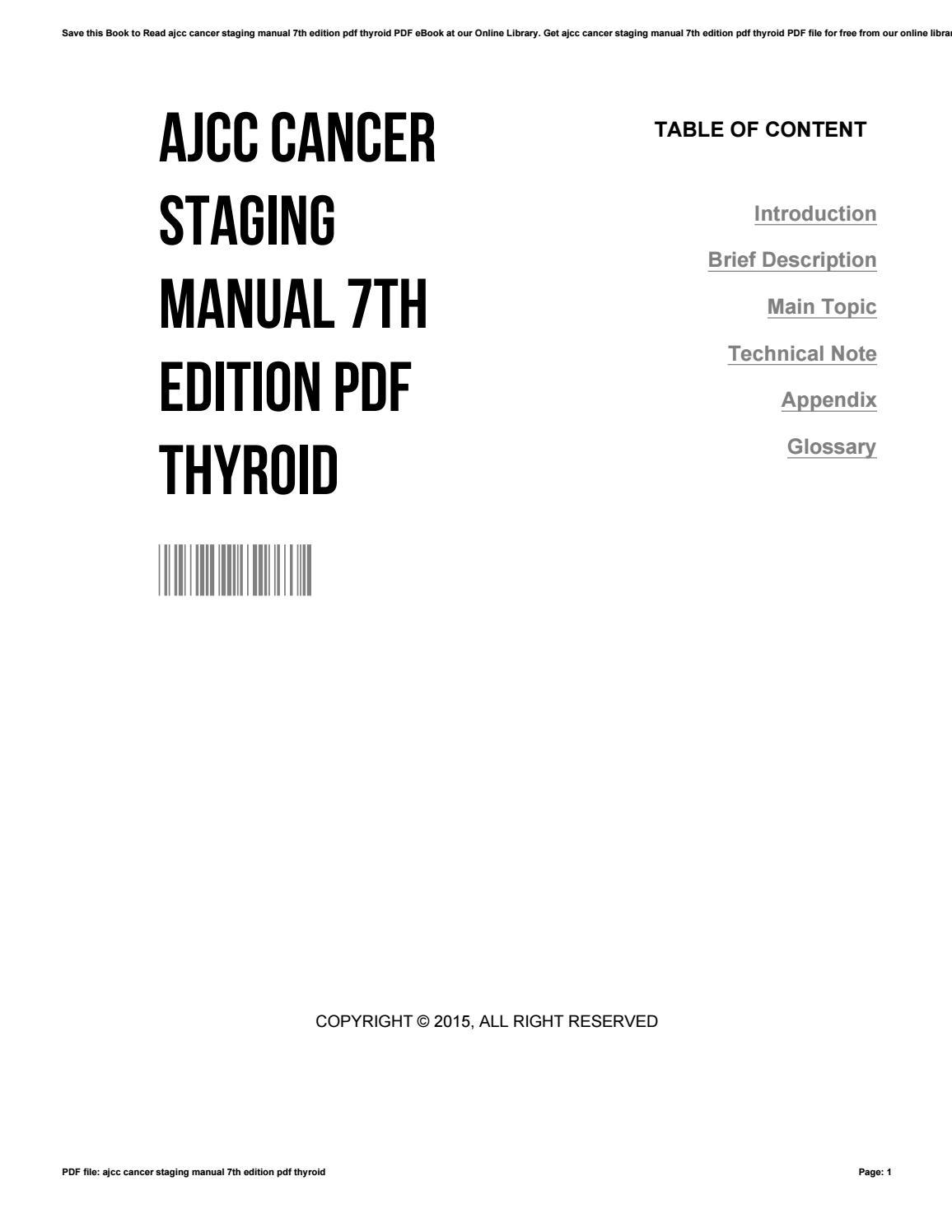 Ajcc cancer staging manual 7th edition pdf thyroid by