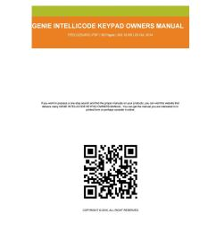 genie intellicode owner manual [ 1156 x 1496 Pixel ]
