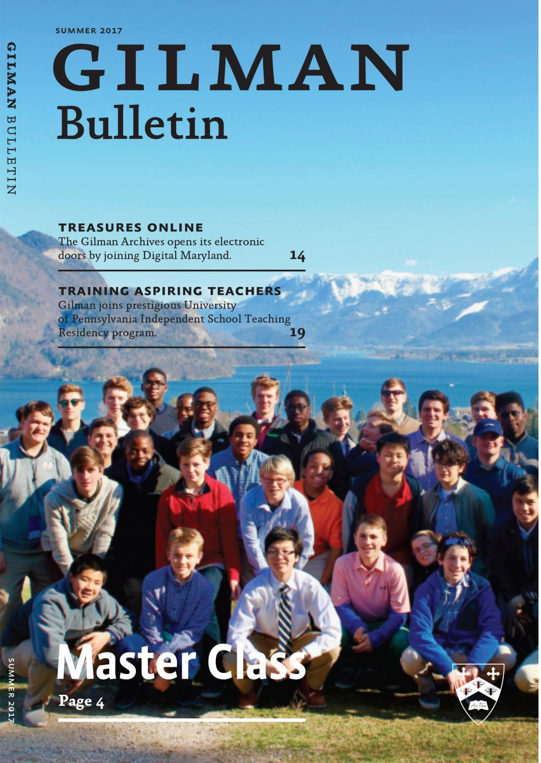 Fall 2017 Gilman Bulletin by Gilman School - issuu