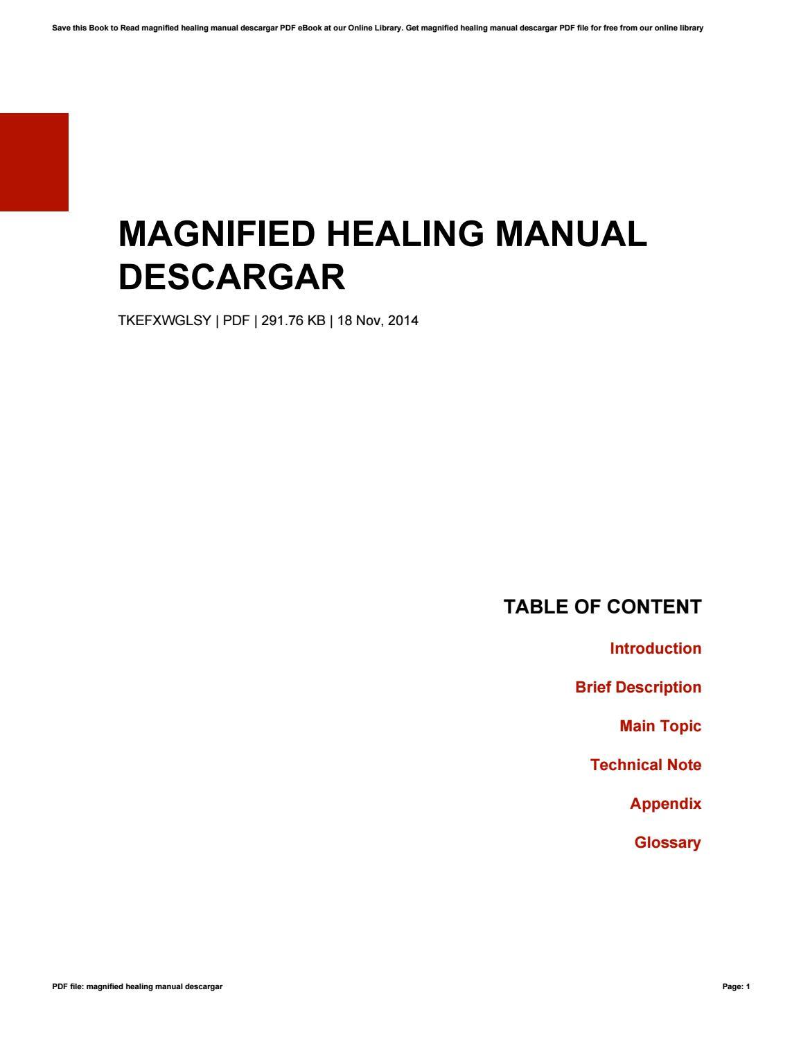 Magnified healing manual descargar by SherylFleming2039