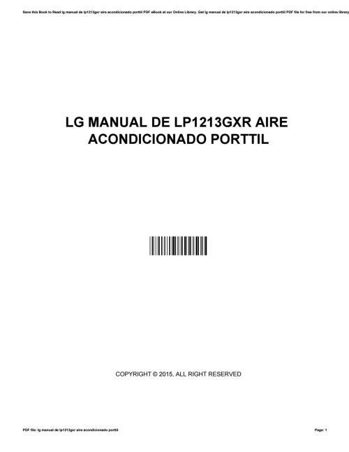 small resolution of  array lg manual de lp1213gxr aire acondicionado porttil by jamiegorman3869 rh issuu com