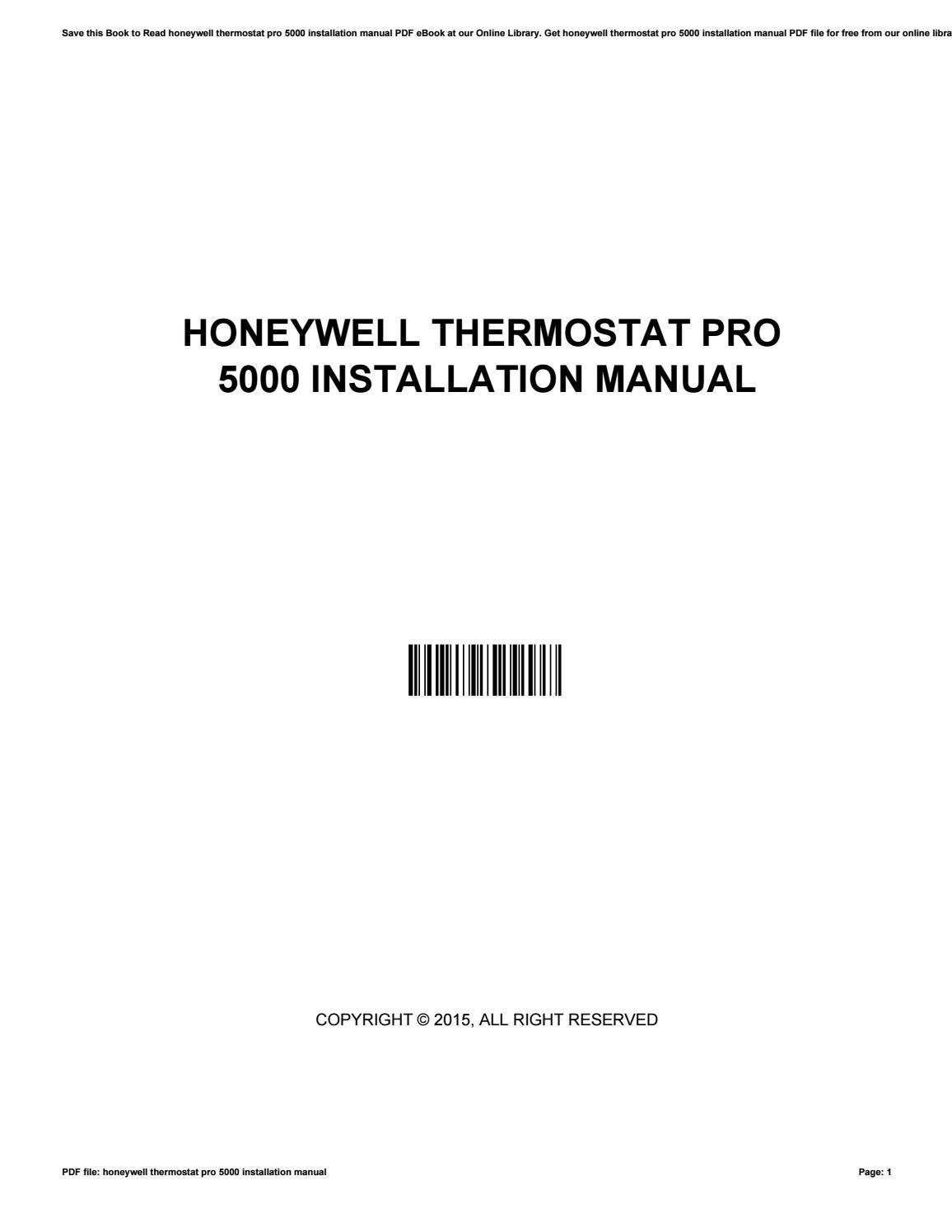 hight resolution of honeywell thermostat pro 5000 installation manual by jamiegorman3869 issuu
