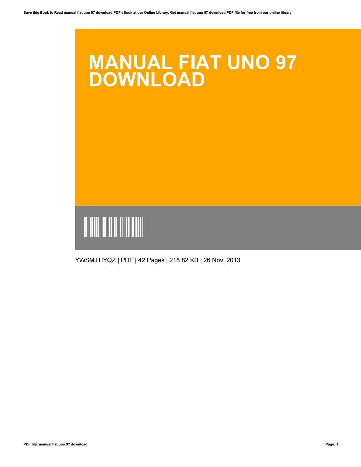 hight resolution of fiat uno manual free download