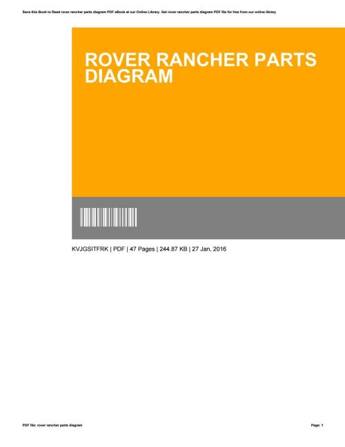 small resolution of rover rancher wiring diagram