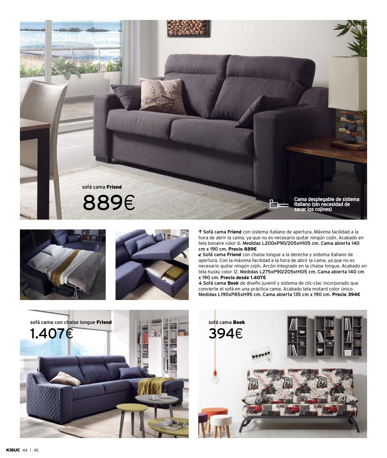 sofa cama chaise longue sistema italiano distressed leather sectional with catalogo general kibuc 2018 by issuu