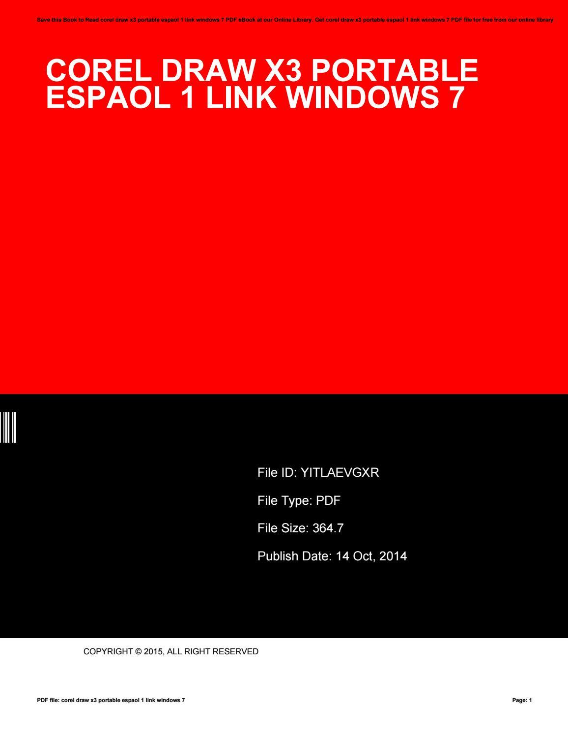 CorelDraw x3 Full Poratble Free Download for Windows Tanpa Install