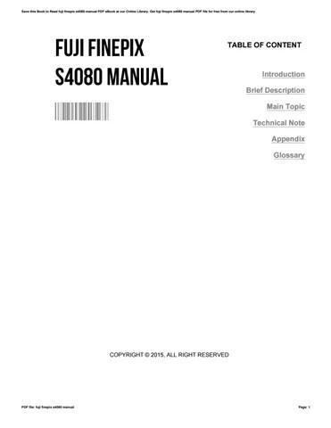 FUJI S4080 MANUAL PDF