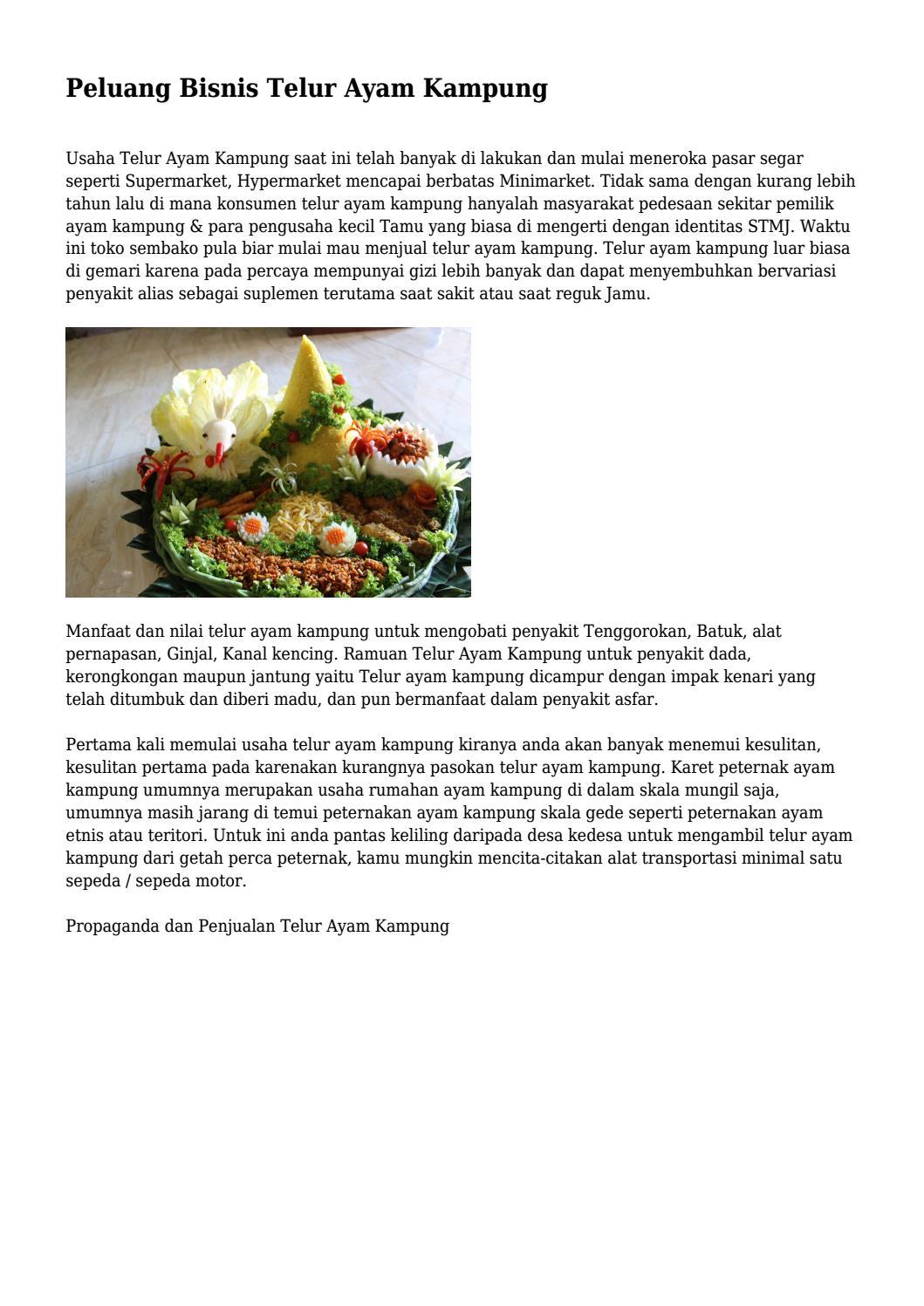 Manfaat Telur Kampung Dicampur Madu : manfaat, telur, kampung, dicampur, Peluang, Bisnis, Telur, Kampung..., Superbisnispop, Issuu