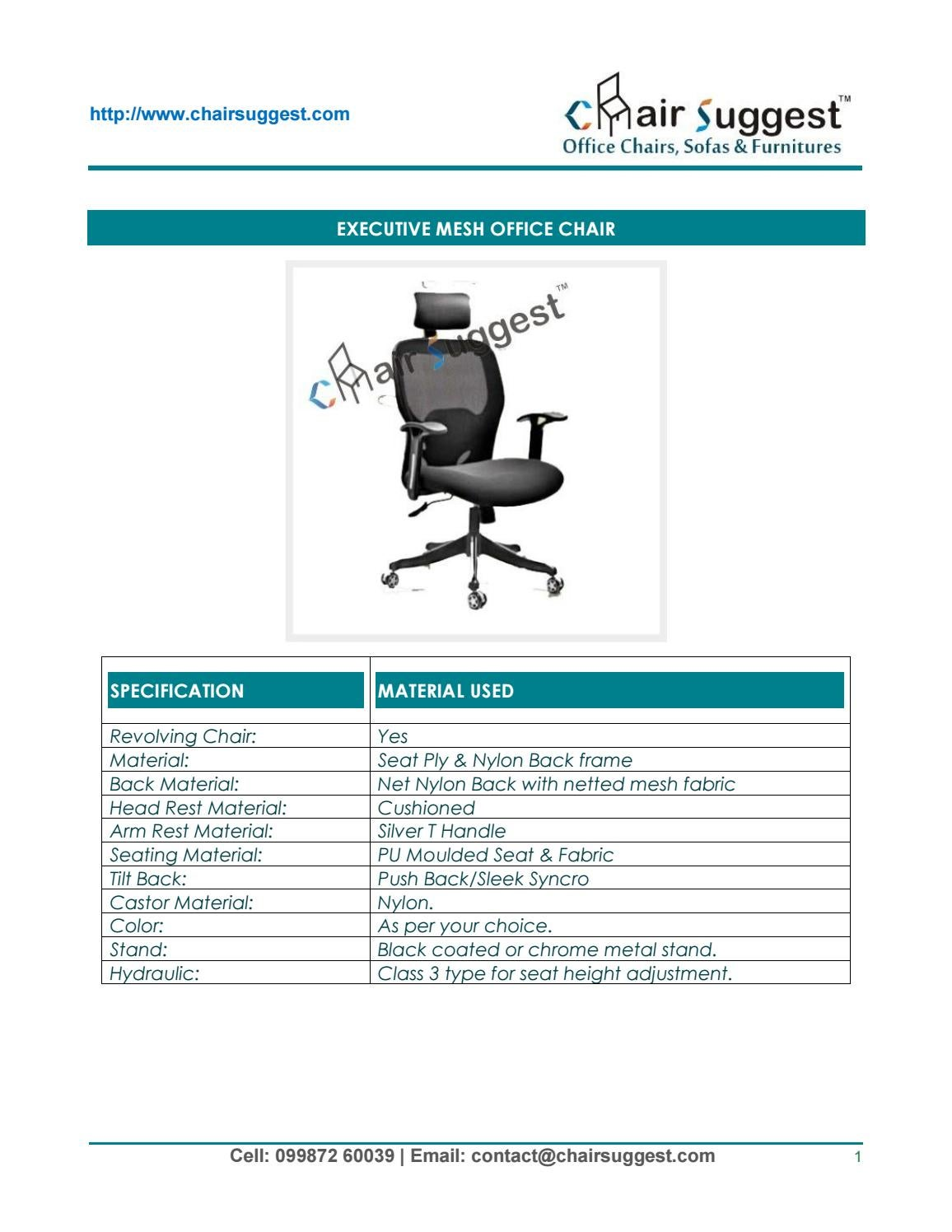 executive revolving chair specifications guards for walls office manufacturer in mumbai manufacturing repairing of all type chairs chairsu by chairsuggest issuu