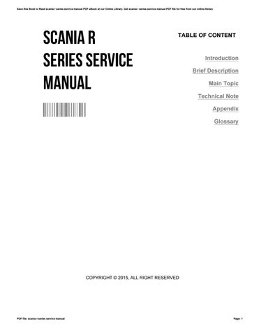 Bestseller: Scania Workshop Manual
