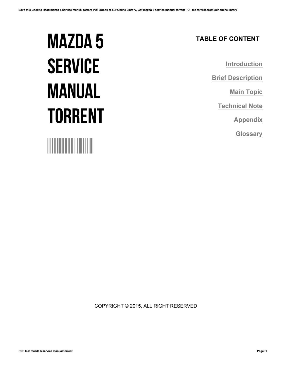 Mazda 5 service manual torrent by ClarenceThomasson2728
