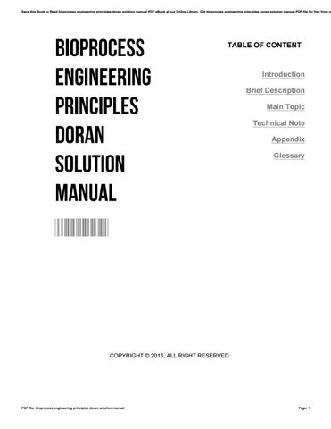 Bioprocess engineering principles doran solution manual by